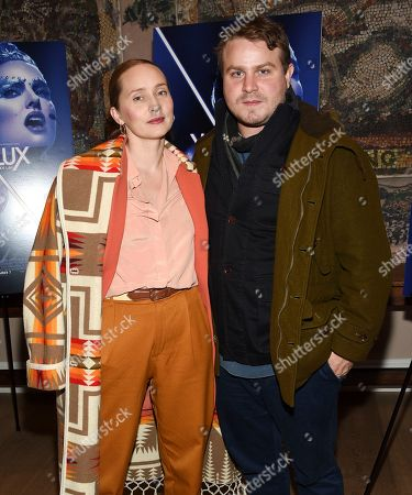 """Mona Lerche, Brady Corbet. Director Brady Corbet and girlfriend Mona Lerche attend a special screening of """"Vox Lux"""" at The Whitby Hotel Theater, in New York"""