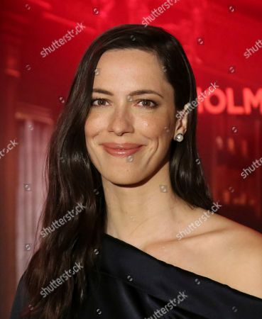 "Rebecca Hall poses for a photo at the ""Holmes & Watson"" Photo Call, in West Hollywood, Calif"