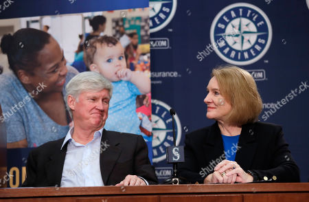 John Stanton, Jenny Durkan. Seattle Mariners chairman John Stanton, left, and Mayor Jenny Durkan look on during a news conference announcing the launch of a community partnership, Home Base, to help tackle King County's homelessness crisis, in Seattle. The Mariners have pledged $3 million for a new effort to prevent low-income renters facing eviction from falling into homelessness. The team's contribution to the Home Base partnership will beef up staffing at the Housing Justice Project, a legal clinic sponsored by the King County Bar Association that provides legal advice and counsel to area renters. The partnership will also provide funding to help tenants facing eviction pay fines and back rent. The partners estimate they could help as many as 4,000 people