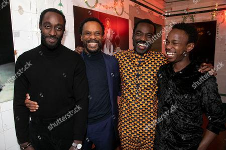 Jude Akuwudike (Uncle), Ivanno Jeremiah (Chancellor), Paapa Essiedu (Chilford) and Rudolphe Mdlongwa (Tamba)