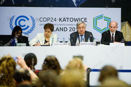 Patricia Espinosa, executive secretary of the United Nations Framework Convention on Climate Change, Antonio Guterres, UN Secretary General and the Special Envoy, Luis Alfonso de Alba