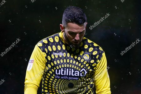 GOAL 2-2 Wycombe Wanderers goalkeeper Stephen Henderson (28) looks dejected after conceding the equaliser, Sky Bet, during the EFL Sky Bet League 1 match between Gillingham and Wycombe Wanderers at the MEMS Priestfield Stadium, Gillingham