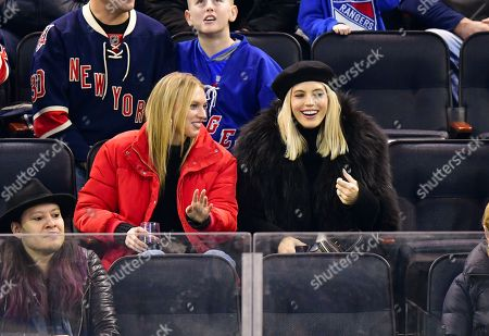 Editorial image of Celebrities at Arizona Coyotes v New York Rangers, NHL ice hockey match, Madison Square Garden, New York, USA - 14 Dec 2018