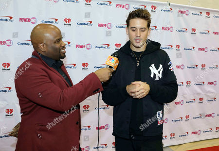 G-Eazy, Gerald Earl Gillum. G-Eazy poses on the red carpet during the Power 96.1 Jingle Ball 2018 at State Farm Arena, in Atlanta