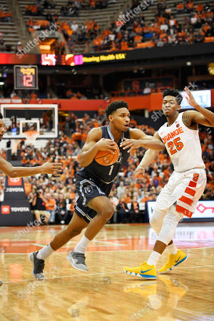 Old Dominion University freshman guard Jason Wade (1) drives toward the basket as the Old Dominion Monarchs defeated the Syracuse Orange 68-62 at the Carrier Dome in Syracuse, NY