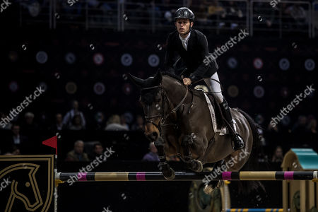 Scott Brash of Britain rides his horse 'Hello Mr President' during the Longines Global Champions Tour Super Grand Prix competition in Prague, Czech Republic, 15 December 2018.