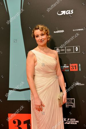 Actress Anamaria Marinca poses on the red carpet during the European Film Awards in Seville, Spain, on