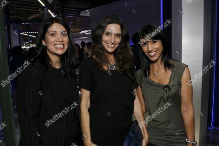 Cecilia Moreno, Elizabeth Stewart and Samia Arslane