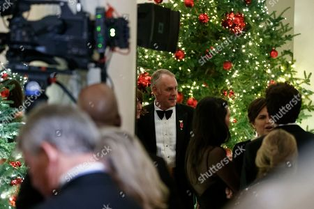 Secretary of the Interior Ryan Zinke attends the Congressional Ball in the Grand Foyer of the White House in Washington