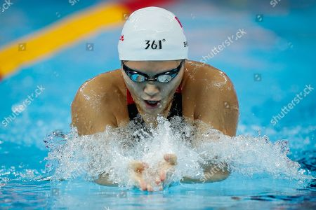 Shiwen Ye of China competes in the Women's 200m Breaststroke Heats at the FINA Swimming Short Course World Championships in Hangzhou, China, 16 December 2018.