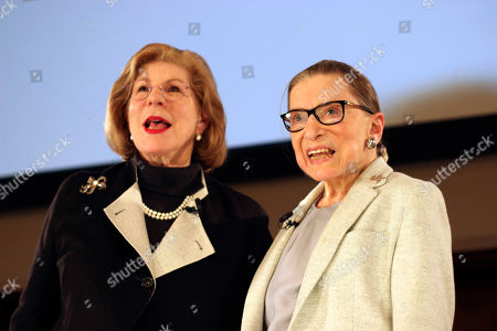 Ruth Bader Ginsburg, Nina Totenberg. NPR's Nina Totenberg, left, and U.S. Supreme Court Justice Ruth Bader Ginsburg stand onstage at the New York Academy of Medicine after doing a question and answer session as part of the Museum of the City of New York's David Berg Distinguished Speakers Series, in New York