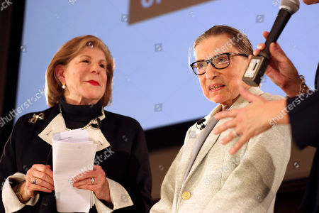 Ruth Bader Ginsburg, Nina Totenberg. NPR's Nina Totenberg, left, and U.S. Supreme Court Justice Ruth Bader Ginsburg are thanked by Whitney W. Donhauser, president of the Museum of the City of New York, after participating in the David Berg Distinguished Speakers Series, in New York. NPR legal correspondent Totenberg led a question-and-answer session about Ginsburg's quarter century on the Supreme Court, and about her life