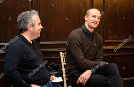 Stock Picture of Brede Hangeland attends a pre match questions and answer session at Fulham Palace