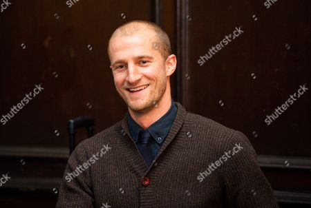 Stock Photo of Brede Hangeland attends a pre match questions and answer session at Fulham Palace