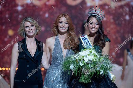 Sylvie Tellier, Vaimalama Chaves (Miss Tahiti) and Maeva Coucke.