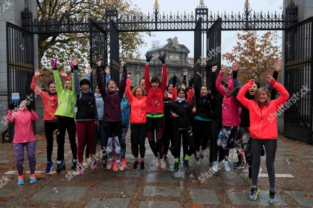 Editorial image of App allows women to run in company, Madrid, Spain - 16 Dec 2018