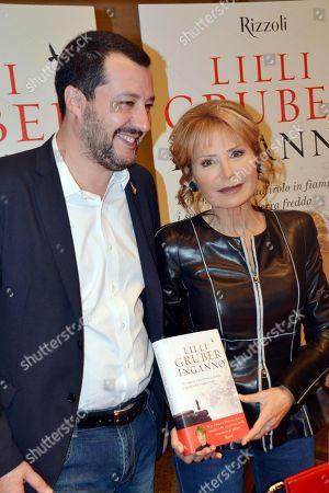 Matteo Salvini and Lilli Gruber