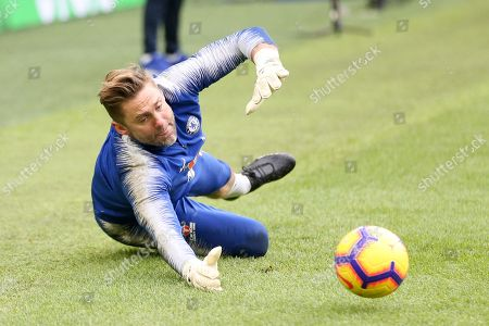 Robert Green saves in warm up during the Premier League match between Brighton and Hove Albion and Chelsea at the American Express Community Stadium, Brighton and Hove