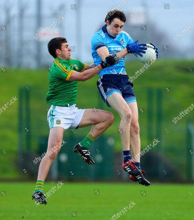 Meath vs Dublin. Meath's Shane McEntee with Darren Gavin of Dublin