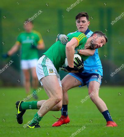 Meath vs Dublin. Dublin's Stephen Smith with Michael Newman of Meath