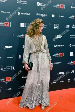 Actress Marie Baumer poses at the red carpet during the European Film Awards in Seville, Spain