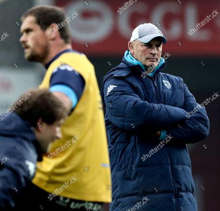 Montpellier vs RC Toulon. Montpellier head coach Vern Cotter