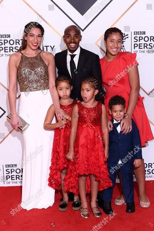 Mo Farah, Tania Nell and family