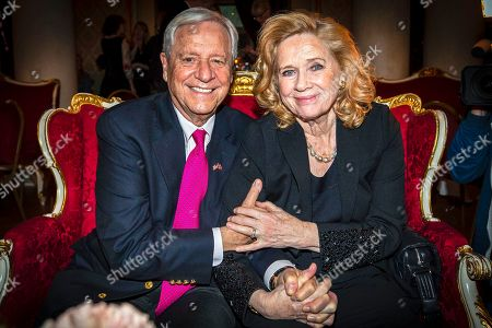 Stock Image of Liv Ullmann (R) and her husband Donald Saunders (L) attend Ullmann's 80th birthday celebrations in Oslo, Norway, 16 December 2018.