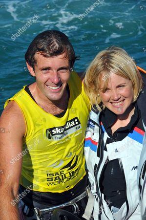 Nick Dempsey with wife  Sarah Ayton