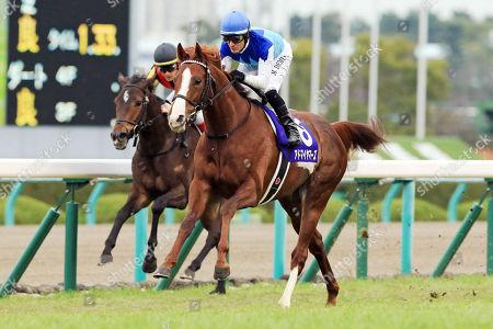 , Admire Mars with Mirco Demuro up wins the Asahi Hai Futurity Stakes at Hanshin racecourse.