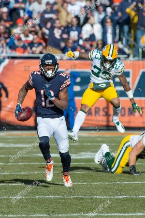 Chicago, Illinois, U.S. - Bears #12 Allen Robinson is chased by Packers #23 Jaire Alexander during the NFL Game between the Green Bay Packers and Chicago Bears at Soldier Field in Chicago, IL. Photographer: Mike Wulf