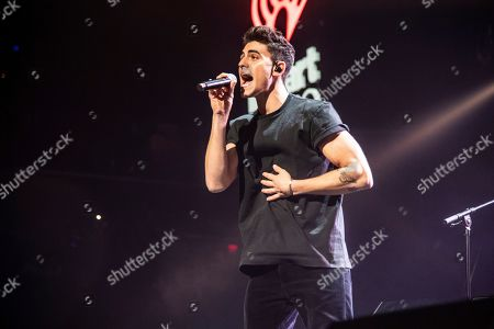 Jack Gilinsky of Jack & Jack performs at Y100's Jingle Ball at BB&T Center, in Sunrise, Fla