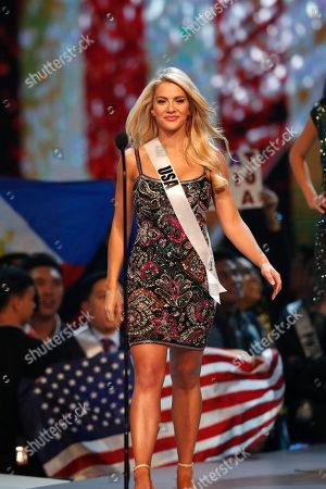 Miss USA Sarah Rose Summers walks on the stage during the Miss Universe 2018 beauty pageant at Impact Arena in Bangkok, Thailand, 17 December 2018. Women representing 94 nations will participate in the 67th Miss Universe 2018 beauty pageant in Bangkok.