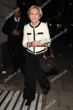 Mary Berry out and about, London
