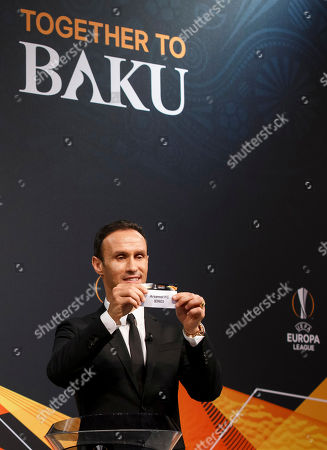 Editorial image of UEFA Europa League Round of 32 Draw, Nyon, Switzerland - 17 Dec 2018