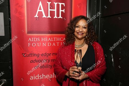 Iconic dancer/choreographer, Debbie Allen pauses for a quick picture backstage after receiving the 2018 AHF Lifetime Achievement Award at the World AIDS Day commemoration presented by AIDS Healthcare Foundation and Debbie Allen Dance Academy at the historic Apollo Theater, in New York