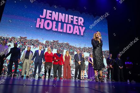 Original Dreamgirl, Jennifer Holliday does a special surprise tribute to honor those impacted by HIV/AIDS sat the World AIDS Day commemoration presented by AIDS Healthcare Foundation and Debbie Allen Dance Academy, at the historic Apollo Theater, in New York