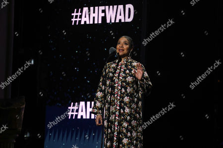 Award-winning actor, Phylicia Rashad, speaks at the World AIDS Day commemoration presented by AIDS Healthcare Foundation and Debbie Allen Dance Academy at the historic Apollo Theater, in New York