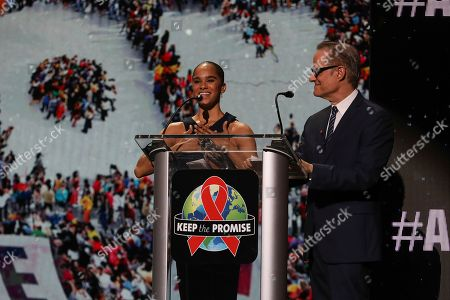 Michael Weinstein, Misty Copeland. AHF President Michael Weinstein, right, stands with prima ballerina, Misty Copeland at the World AIDS Day commemoration presented by AIDS Healthcare Foundation and Debbie Allen Dance Academy, at the historic Apollo Theater, in New York