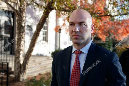 Rep.-elect Anthony Gonzalez, R-Ohio walks from the National Republican Congressional Committee offices in Washington