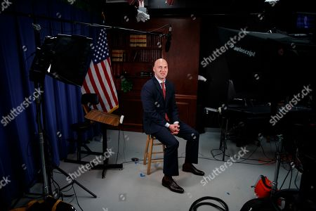 Rep.-elect Anthony Gonzalez, R-Ohio is photographed in a studio at the National Republican Congressional Committee offices in Washington