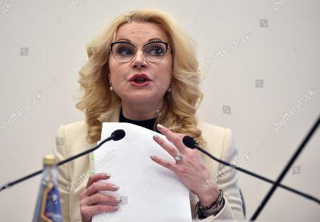 Russian Deputy Prime Minister Tatyana Golikova during the seminar.