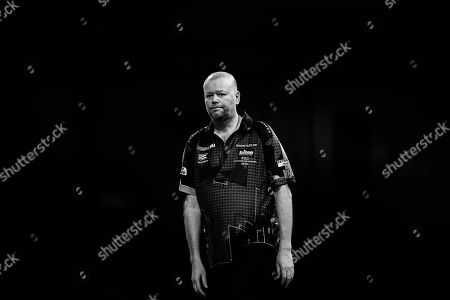 CORRECTION The body language says it all. Raymond van Barneveld looking dejected during the World Championship Darts 2018 at Alexandra Palace, London