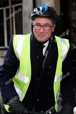 Bernard Jenkin is seen leaving Shepherd's Restaurant near Parliament.