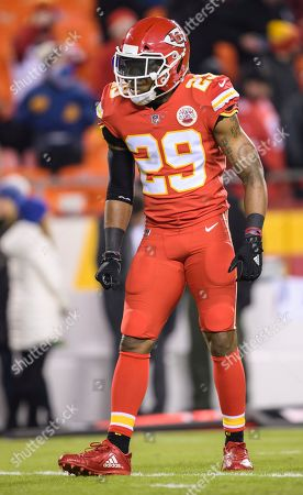 Kansas City Chiefs defensive back Eric Berry (29) during warm-ups before the start of an NFL football game in Kansas City, Mo