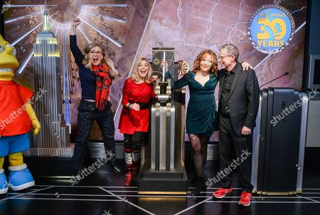 Editorial image of 'The Simpsons' Celebrate 30th Anniversary at Empire State Building, New York, USA - 17 Dec 2018