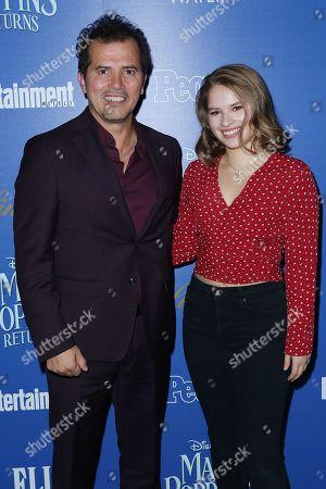 Stock Image of John Leguizamo and Allegra Leguizamo