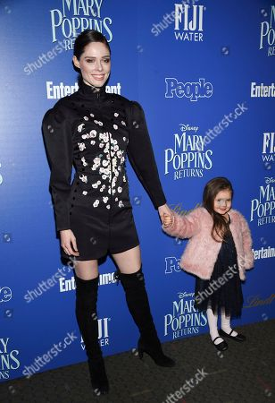 """Stock Image of Coco Rocha, Ioni James Conran. Coco Rocha and daughter Ioni James Conran attend a special screening of Disney's """"Mary Poppins Returns"""", hosted by The Cinema Society, at the SVA Theatre, in New York"""
