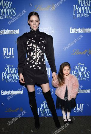 """Coco Rocha, Ioni James Conran. Coco Rocha and daughter Ioni James Conran attend a special screening of Disney's """"Mary Poppins Returns"""", hosted by The Cinema Society, at the SVA Theatre, in New York"""