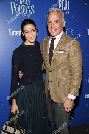 """Margaret Anne Williams, Geoffrey Zakarian. Chef Geoffrey Zakarian and wife Margaret Anne Williams attend a special screening of Disney's """"Mary Poppins Returns"""", hosted by The Cinema Society, at the SVA Theatre, in New York"""